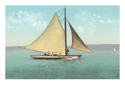 Gaff-Rigged Sailboat--Art Print