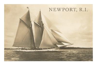 Gaff-Rigged Schooner, Newport, Rhode Island--Art Print
