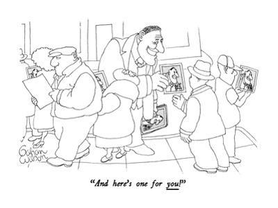 """""""And here's one for you!"""" - New Yorker Cartoon by Gahan Wilson"""