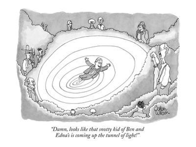 """""""Damn, looks like that snotty kid of Ben and Edna's is coming up the tunne…"""" - New Yorker Cartoon by Gahan Wilson"""