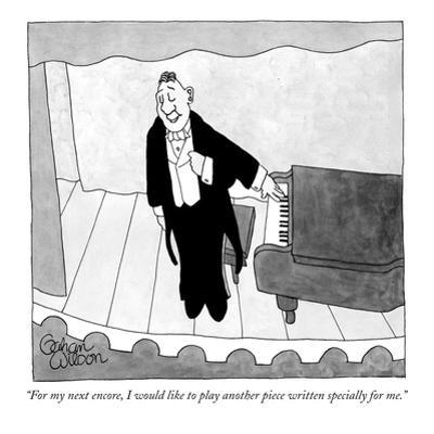 """For my next encore, I would like to play another piece written specially …"" - New Yorker Cartoon by Gahan Wilson"