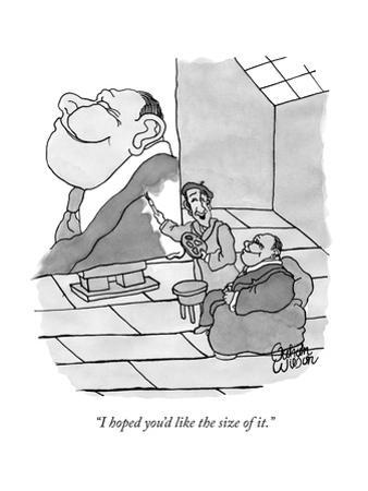 """""""I hoped you'd like the size of it."""" - New Yorker Cartoon by Gahan Wilson"""