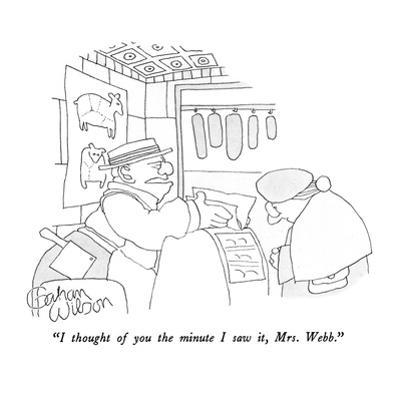 """I thought of you the minute I saw it, Mrs. Webb."" - New Yorker Cartoon by Gahan Wilson"