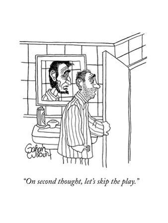 """On second thought, let's skip the play."" - New Yorker Cartoon by Gahan Wilson"