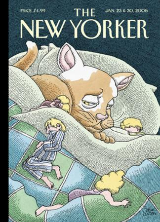 The New Yorker Cover - January 23, 2006 by Gahan Wilson