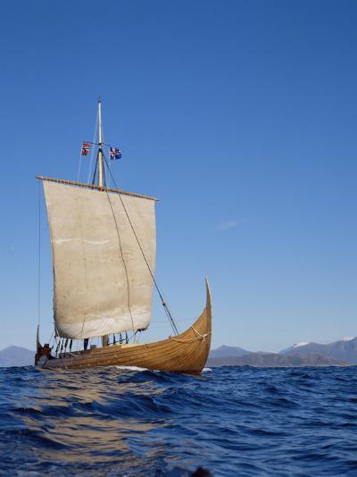 Gaia, Replica Viking Ship, Norway, Scandinavia-David Lomax-Photographic Print
