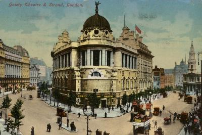 Gaiety Theatre and Strand, London--Photographic Print