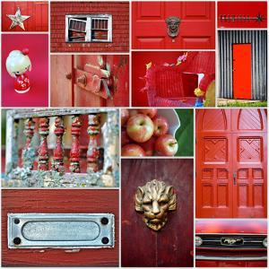 Apple Red Collage by Gail Peck