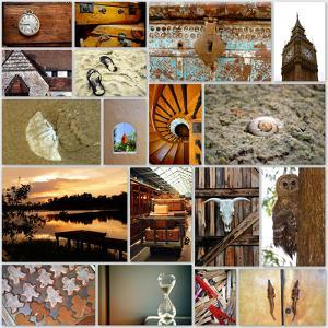 Naturally Brown Collage by Gail Peck