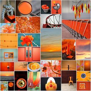 Orangina Collage by Gail Peck