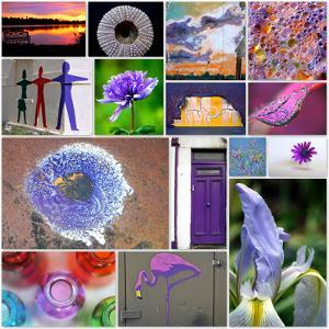 Purple Blossom Collage by Gail Peck