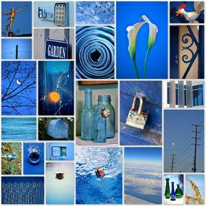Sky Blue Collage by Gail Peck