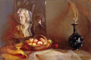 Still Life with Apples and Beethoven's Bust by Gail Schulman