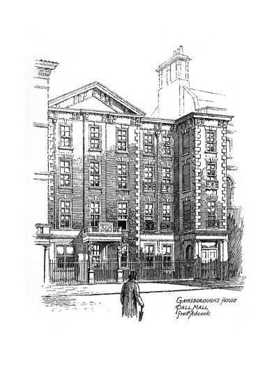 Gainsborough's House, Pall Mall, London, 1912-Frederick Adcock-Giclee Print