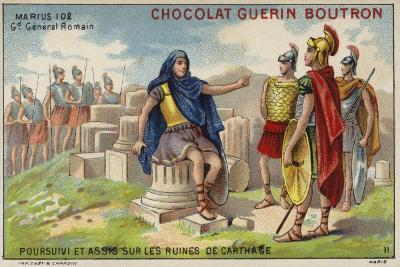 Gaius Marius in Exile Among the Ruins of Carthage--Giclee Print