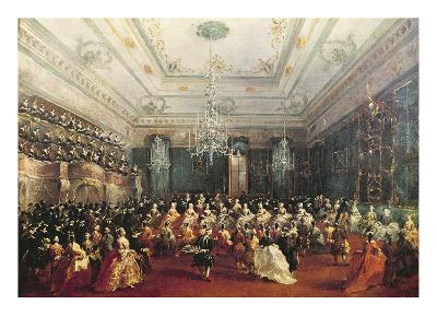 Gala Concert Given in January 1782 in Venice for the Tsarevich Paul of Russia and His Wife-Francesco Guardi-Giclee Print