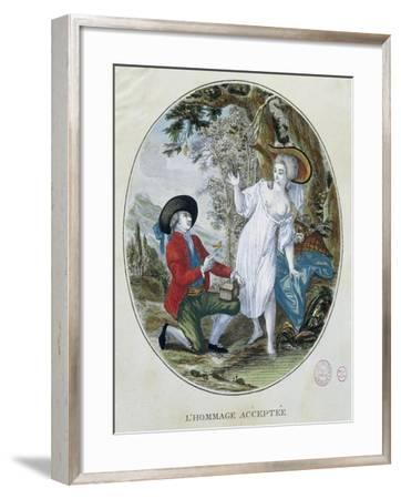 Galant Scene by Deny, France--Framed Giclee Print
