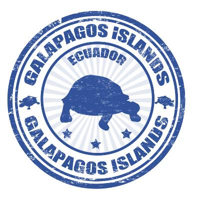 Galapagos Islands Stamp-radubalint-Art Print