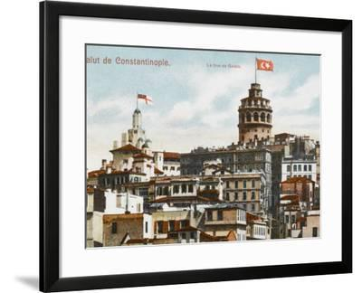 Galata Tower, Constantinople--Framed Photographic Print
