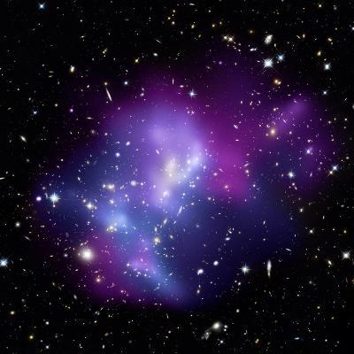 Galaxy Cluster MACS J0717--Photographic Print
