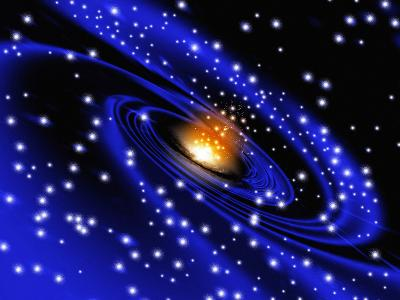 Galaxy Formation, Computer Artwork-Mehau Kulyk-Photographic Print