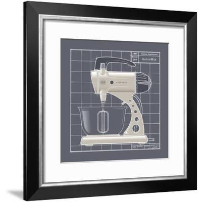 Galaxy Mixer - Ivory-Larry Hunter-Framed Giclee Print