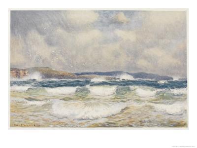 Gale on the Australian Coast-Percy F^s^ Spence-Giclee Print