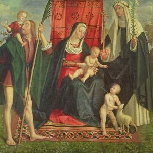 Madonna and Child with Saints by Galeazzo Campi