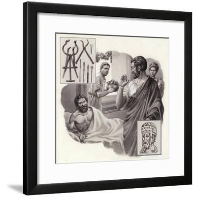 Galen the Physician Risks His Life Telling a Roman Emperor He Has Been Over-Eating-Pat Nicolle-Framed Giclee Print