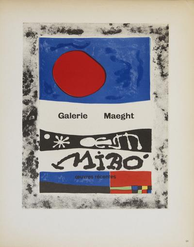Galerie Maeght-Joan Miro-Collectable Print