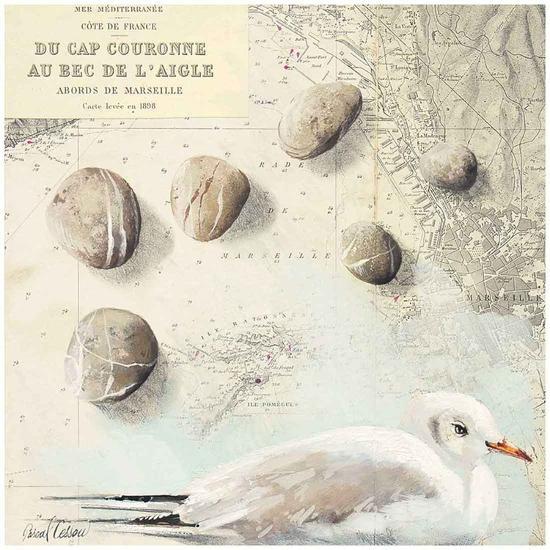Galets Cap Couronne-Pascal Cessou-Art Print