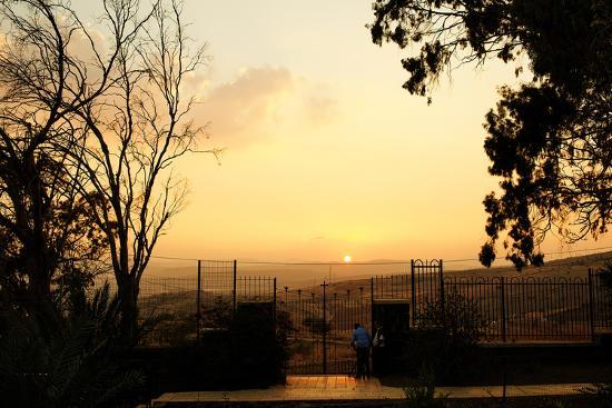 Galilee Landscape from Mount of Beatitudes-Roberto Salomone-Photographic Print