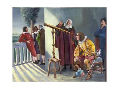 Galileo and Milton in Obseratory--Giclee Print