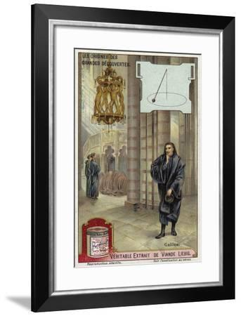 Galileo and the Motion of Pendulums--Framed Giclee Print
