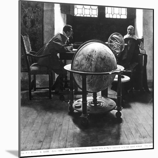 Galileo and Vivani-Tito Lessi-Mounted Premium Giclee Print