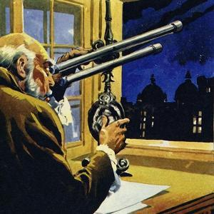 Galileo Created a Telescope and Discovered Four Satellites of Jupiter
