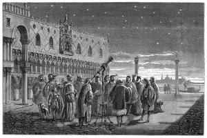 Galileo Demonstrating His Telescope, Venice, 1609