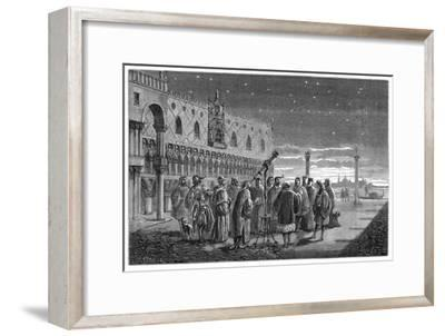 Galileo Demonstrating His Telescope, Venice, 1609