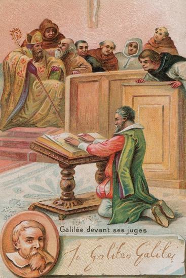 Galileo Galilei before the Judges--Giclee Print
