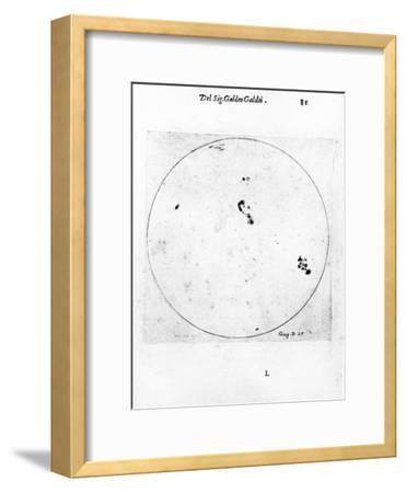 Galileo's Observation of Sunspots, 1613