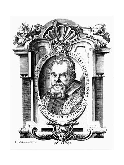 Galileo Galilei, Italian Astronomer and Mathematician, Early 17th Century-Francesco Villamena-Giclee Print