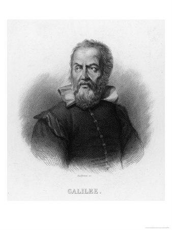 Galileo Galilei Italian Astronomer- Audibran-Premium Giclee Print