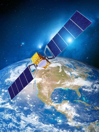 Galileo Navigation Satellite-Detlev Van Ravenswaay-Photographic Print