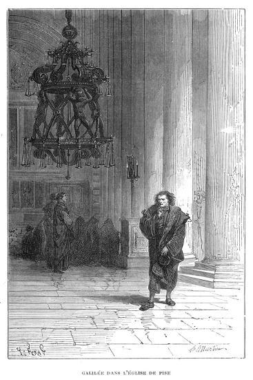 Galileo Observing the Swaying of the Chandelier in Pisa Cathedral, C1584--Giclee Print