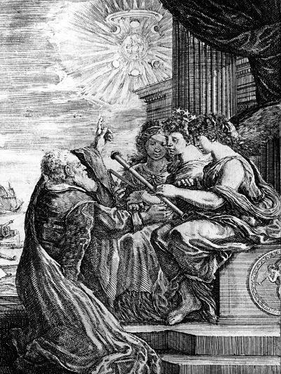 Galileo Presenting His Telescope to the Muses, 1655-56--Giclee Print