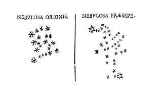 Galileo's Observation of the Star Cluster in Orion and of the Praesepe Cluster, 1610