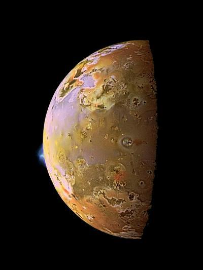 Galileo Spacecraft Image of a Volcanic Plume on Io--Photographic Print