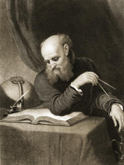 Galileo with Compass and Diagrams, C.1880--Giclee Print