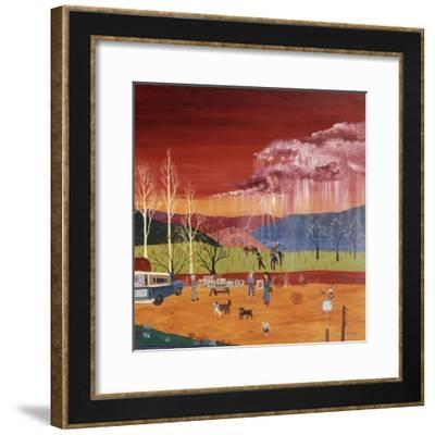 Galisteo New Mexico (Right)-Kristin Nelson-Framed Premium Giclee Print