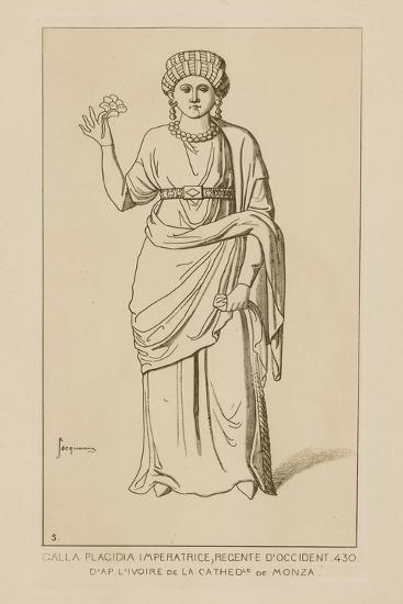 Galla Placidia Imperatrice, Regente D'Occident, 430-Raphael Jacquemin-Giclee Print